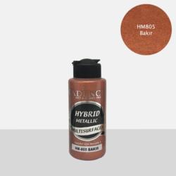 Cadence Hybrid Metallic Acrylic -akryylimaali, sävy Copper, 120 ml
