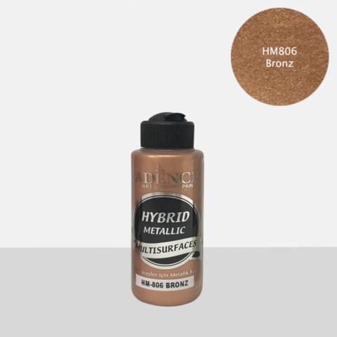 Cadence Hybrid Metallic Acrylic -akryylimaali, sävy Bronze, 120 ml