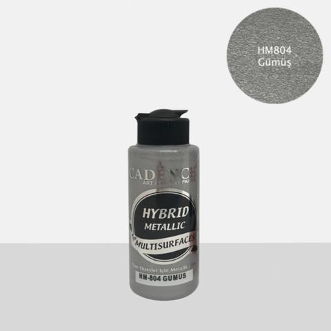 Cadence Hybrid Metallic Acrylic -akryylimaali, sävy Silver, 120 ml