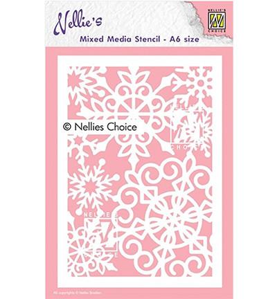Nellie's Choice Mixed Media sapluuna Large Snowflake