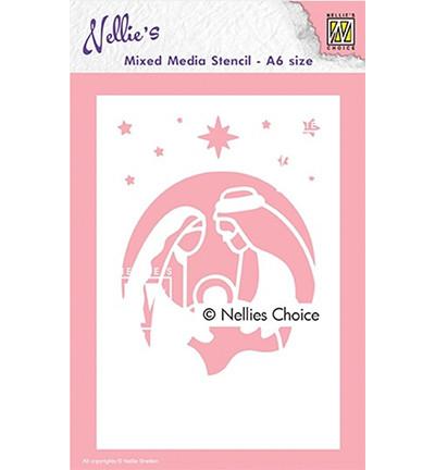 Nellie's Choice Mixed Media sapluuna Holy Family