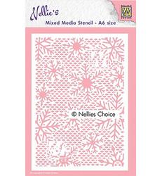 Nellie's Choice Mixed Media sapluuna Small Snowflake