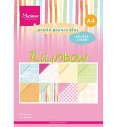 Marianne Design Rainbow -paperikko, A4