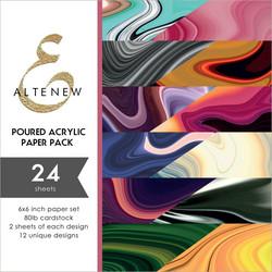 Altenew paperipakkaus Poured Acrylic
