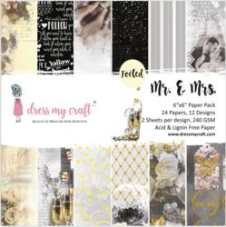 Dress My Craft paperipakkaus Mr & Mrs