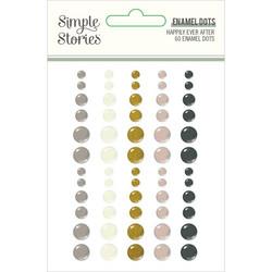 Simple Stories Enamel Dots -tarrat Happily Ever After