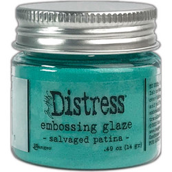 Tim Holtz Distress Embossing Glaze -jauhe, sävy Salvaged Patina