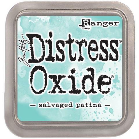 Distress Oxide -mustetyyny, sävy Salvaged Patina