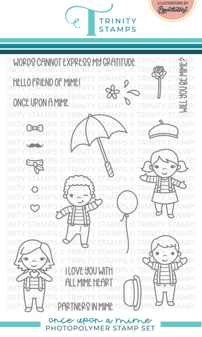 Trinity Stamps leimasin Once Upon A Mime