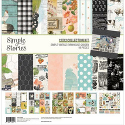 Simple Stories Vintage Farmhouse Garden -paperipakkaus, 12