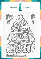 Trinity Stamps leimasin Merry and Bright