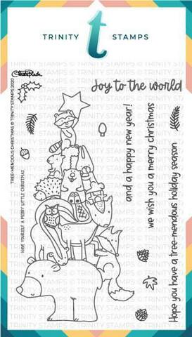 Trinity Stamps leimasin Tree-mendous Christmas