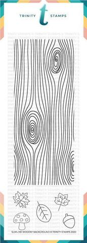 Trinity Stamps leimasin Slimline Woodsy Background