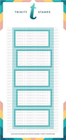 Trinity Stamps stanssi Slimline Staggered Rectangles