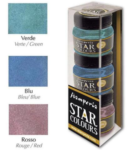 Stamperia Star Colors -maalit, setti 2