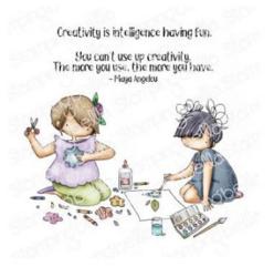 Stamping Bella Oddball Tiny Townie Crafty Friends -leimasinsetti
