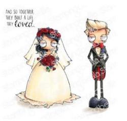 Stamping Bella Oddball Bride and Groom -leimasinsetti