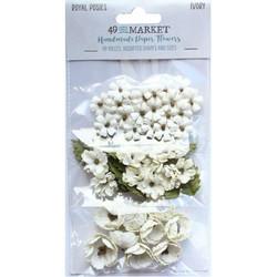 49 and Market Royal Posies paperikukat Ivory
