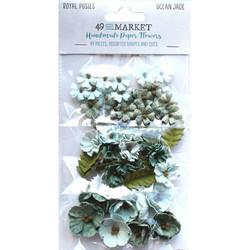49 and Market Royal Posies paperikukat Ocean Jade