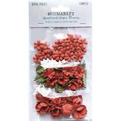 49 and Market Royal Posies paperikukat Tomato