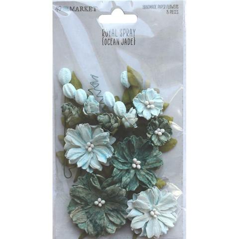 49 and Market Royal Spray paperikukat Ocean Jade
