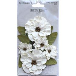 49 and Market Majestic Bouquet paperikukat Ivory
