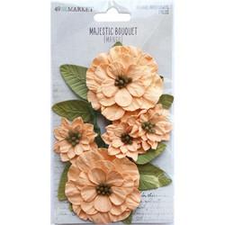 49 and Market Majestic Bouquet paperikukat Mango
