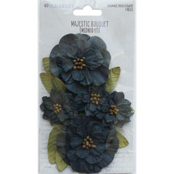 49 and Market Majestic Bouquet paperikukat Midnight