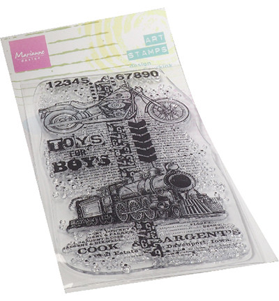 Marianne Design Art Stamps, Toys For Boys -leimasin