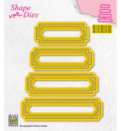 Nellie's Choice stanssi Set of 4 tags