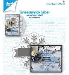 Joy! crafts Snowflake Label -stanssi