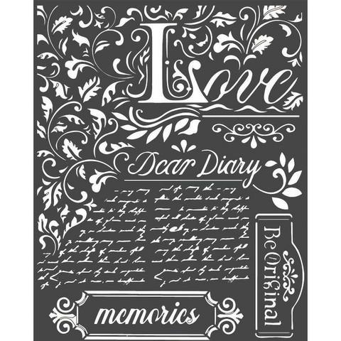 Stamperia sapluuna Dear Diary