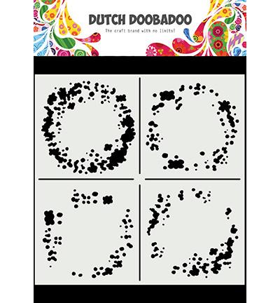 Dutch Doobadoo Circle Grunge -sapluuna