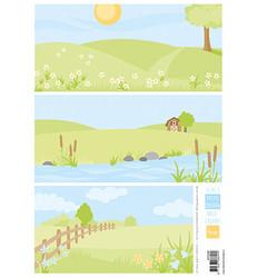 Marianne Design korttikuvat Eline's Pastel Meadows Background