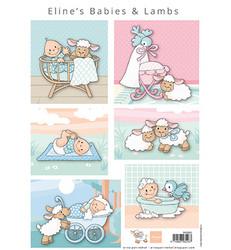Marianne Design korttikuvat Eline's Babies & Lambs