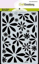 CraftEmotions sapluuna Flowers, A6