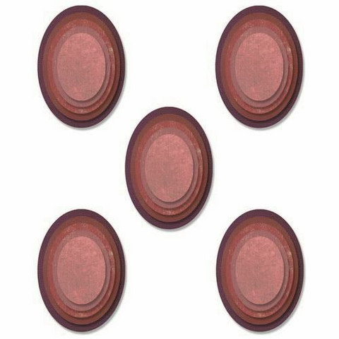 Sizzix Tim Holtz Thinlits stanssisetti Stacked Oval Tiles