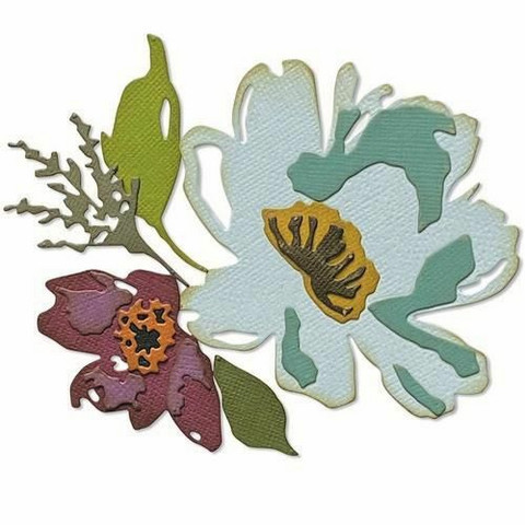 Sizzix Tim Holtz Thinlits stanssi Brushstroke Flowers