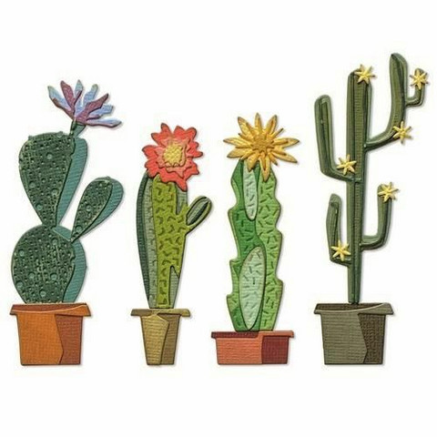 Sizzix Tim Holtz Thinlits stanssi Funky Cactus