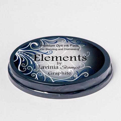 Lavinia Elements Premium Dye Ink -mustetyyny, sävy Graphite