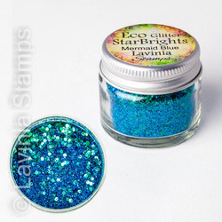 Lavinia StarBrights Eco Glitter -jauhe, sävy Mermaid Blue