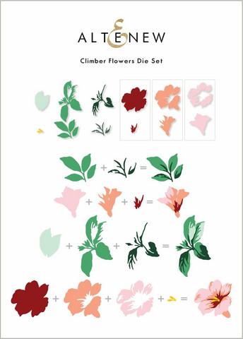 Altenew Climber Flowers -stanssisetti