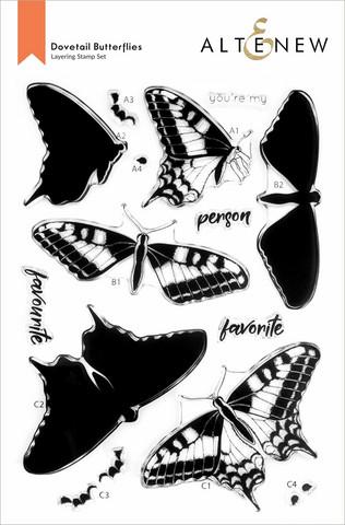 Altenew Dovetail Butterflies -leimasinsetti