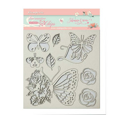 Stamperia Decorative Chips kuvioleikkeet Circle of Love Butterfly