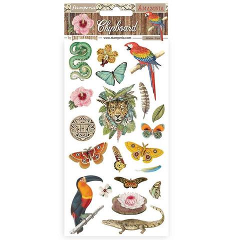 Stamperia Chipboard kuvioleikkeet Amazonia