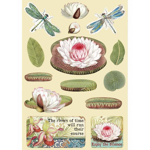 Stamperia Wooden Shapes -puukuviot Amazonia Water Lily