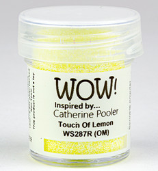 Wow! Embossing Glitters -kohojauhe, sävy Touch Of Lemon by Catherine Pooler, Regular (OM)