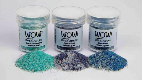 Wow! Embossing Glitters -kohojauhesetti Cosmic by Marion Emberson