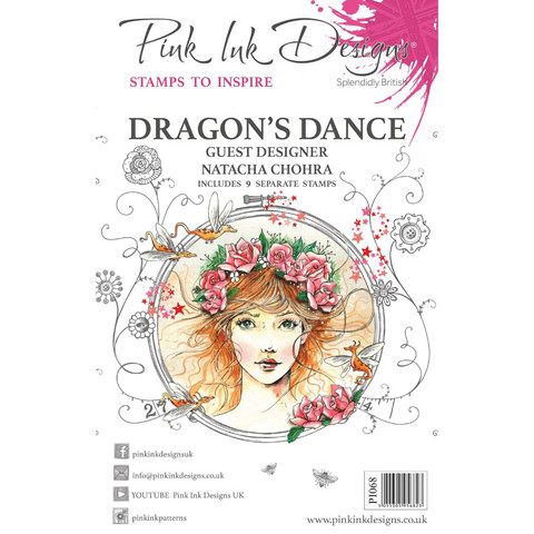Pink Ink Designs leimasinsetti Dragon's Dance