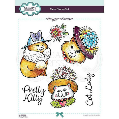 Creative Expressions Pretty Kitties -leimasin